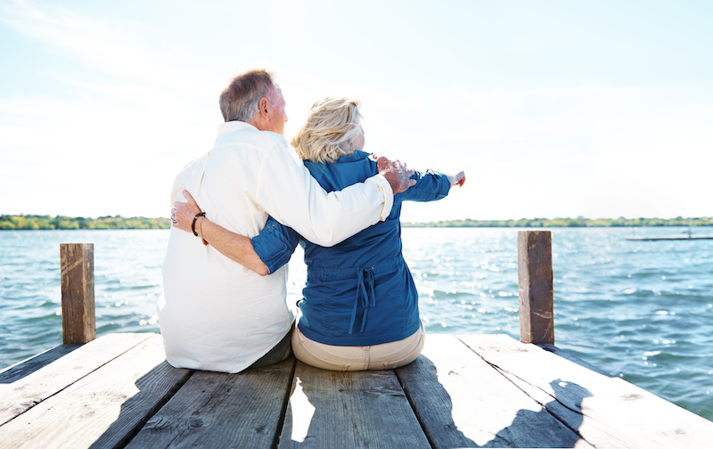 Older Couple on Dock